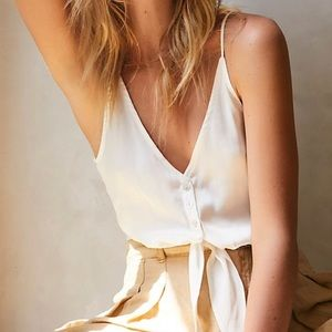 Free People Tops - NWT Free People Two Tie For You Tank-Size M,L